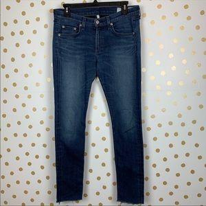 rag & bone Saxby Raw Edge Hem Skinny Jeans